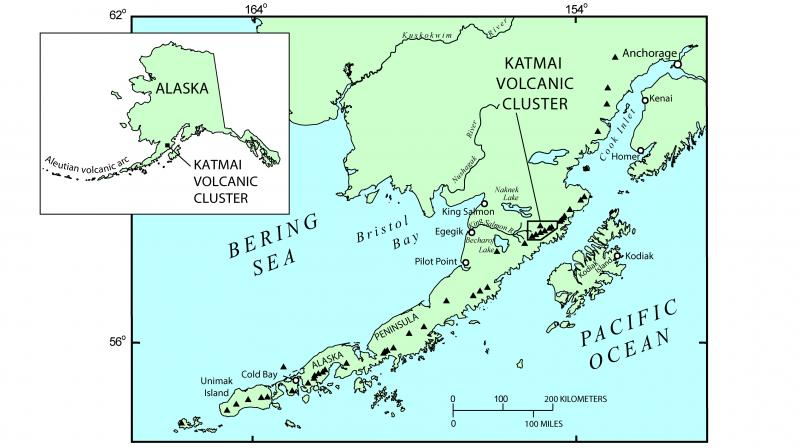 Alaska Map Volcano.Avo Image 42601 Katmai Novarupta